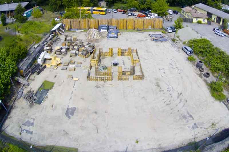 Paintball Outdoor: Blick aus der Luft auf das dritte Feld - Teil 3