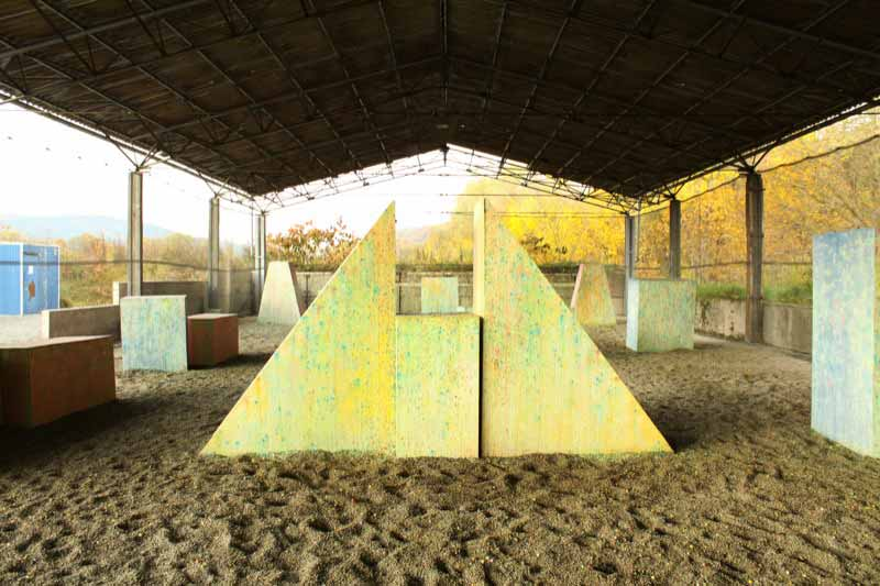 Paintball Indoor: Blick auf das Speedball - Indoorfeld - Teil 2