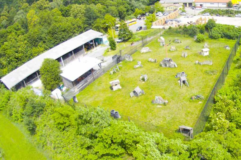 Paintball Outdoor: Blick aus der Luft auf das Szenario - Outdoorfeld - Teil 12
