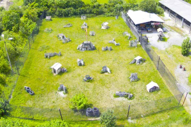 Paintball Outdoor: Blick aus der Luft auf das Szenario - Outdoorfeld - Teil 13
