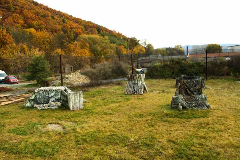 Paintball Outdoor: Blick auf das Szenario - Outdoorfeld - Teil 5