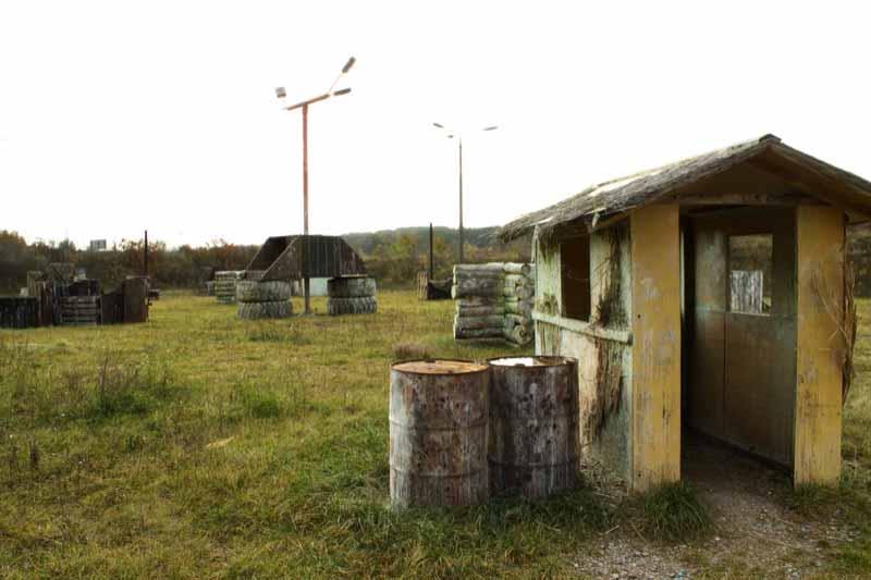 Paintball Outdoor: Blick auf das Szenario - Outdoorfeld - Teil 7